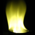 Yellow Flame - 15 sec